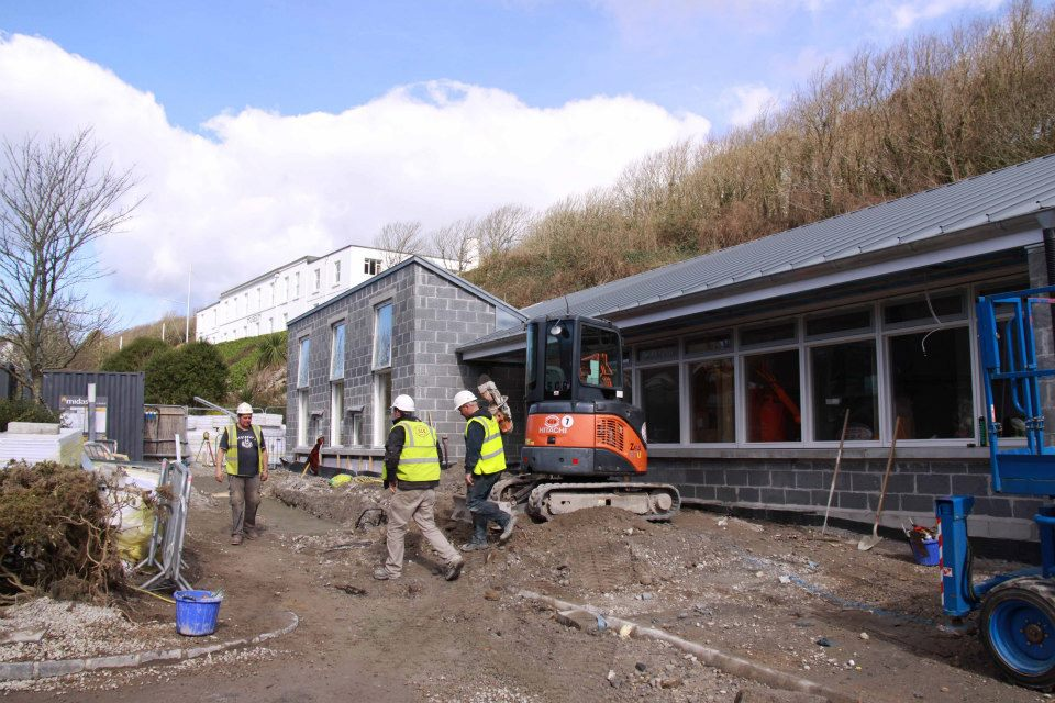 Building Site - Here is a look back at the Clore Learning Space and the new home of the Archive and Searchroom