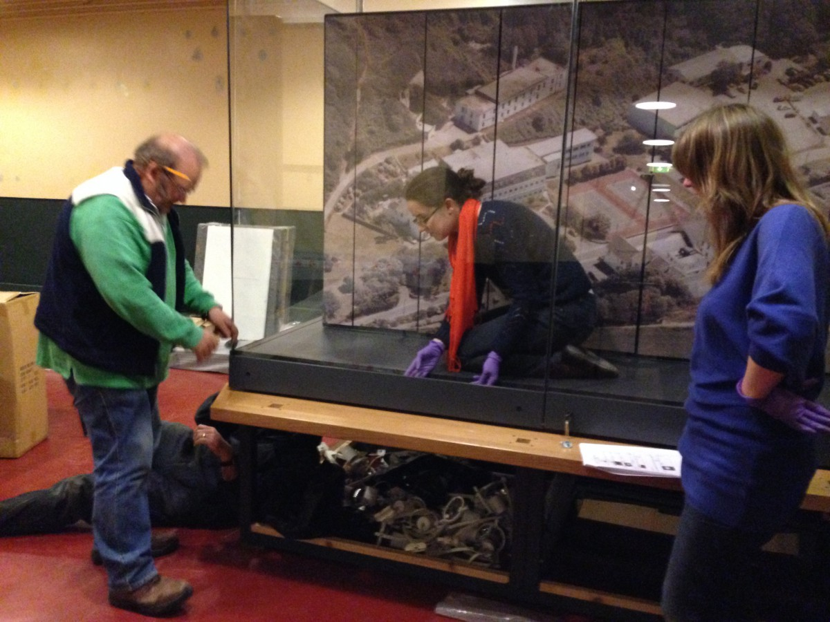 Display Cases - It takes a lot of organisation to get the display cases ready and we have relied on Malcolm and his Team to assist with heavy work and hanging display boards and paintings