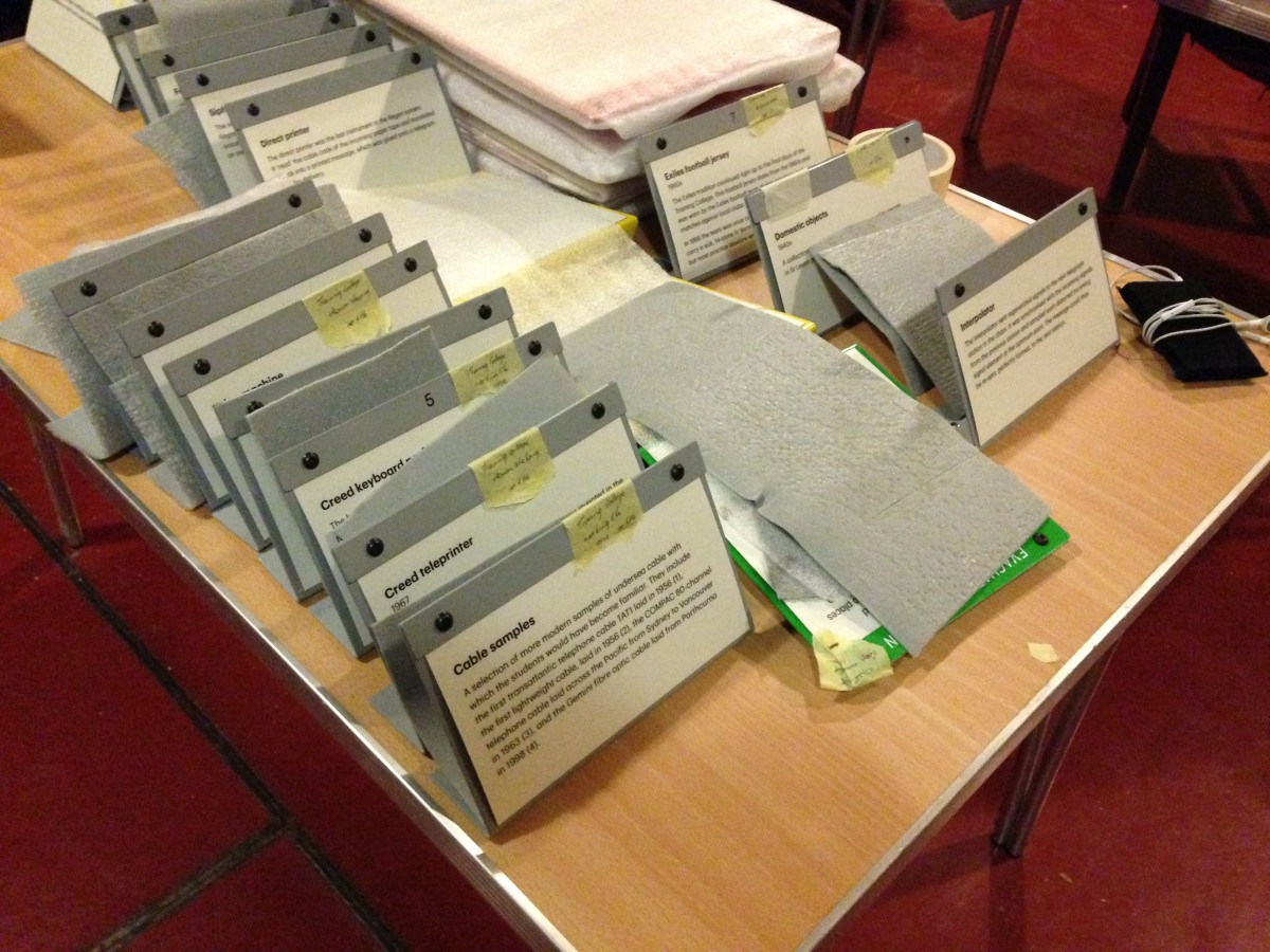 Interpretation - Ros has spent months preparing and organising the text panels to accompany our Display Collection