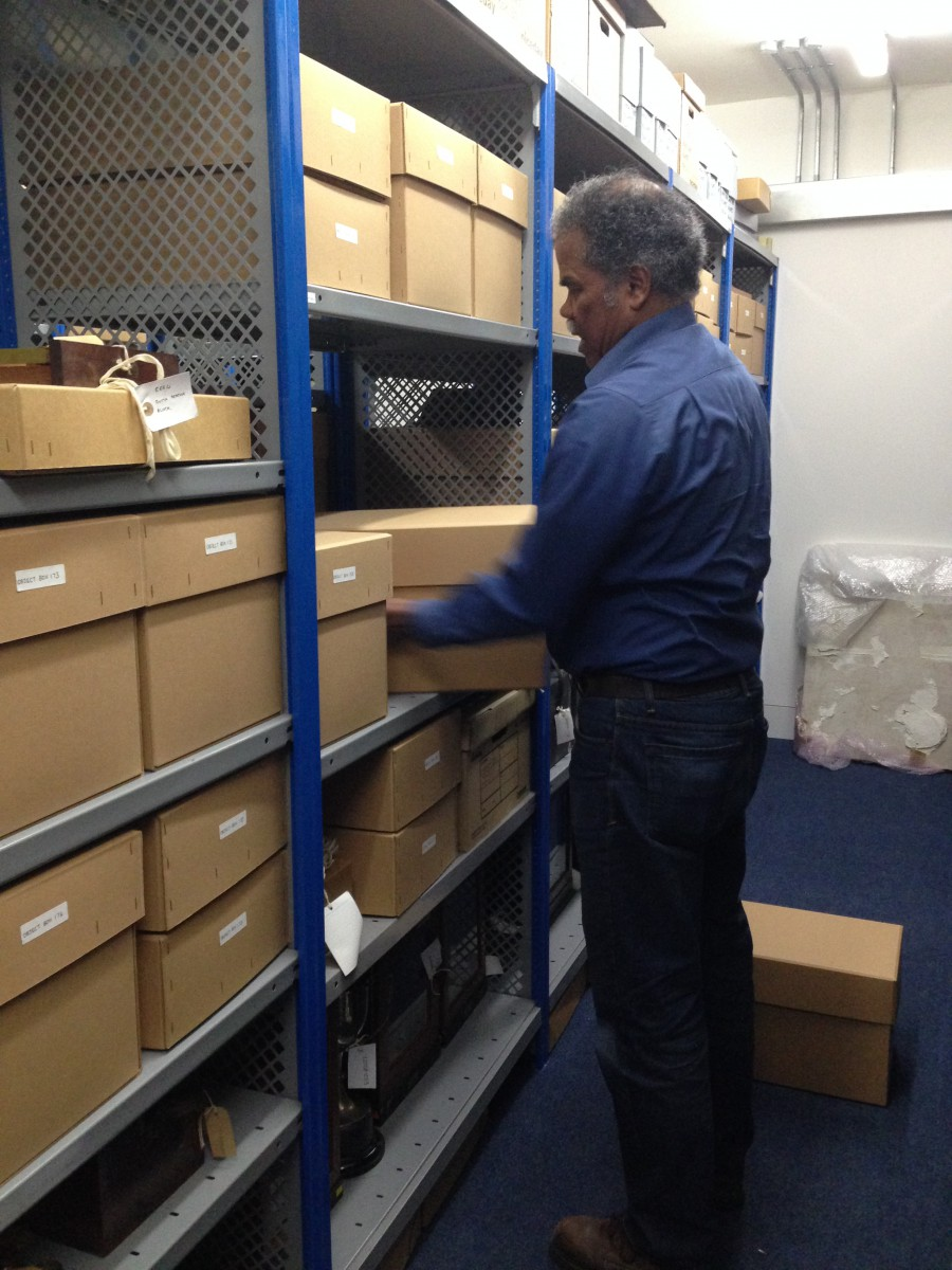 New Object Store - Here is Rudi transferring the Stored Object Collection to it's new home in Eastern House