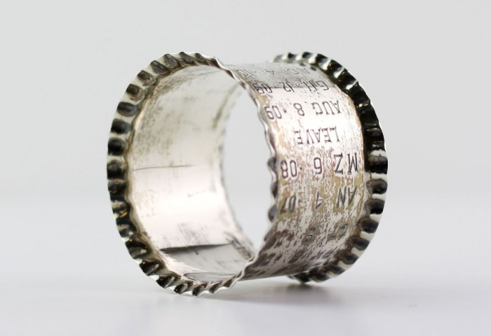 Engraved Silver Napkin Ring