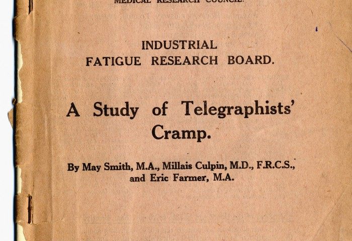 A study of telegraphists' cramp