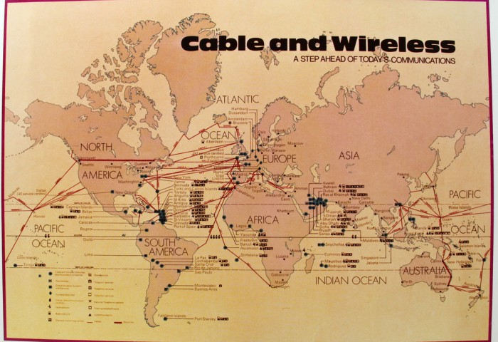 Cable and Wireless map