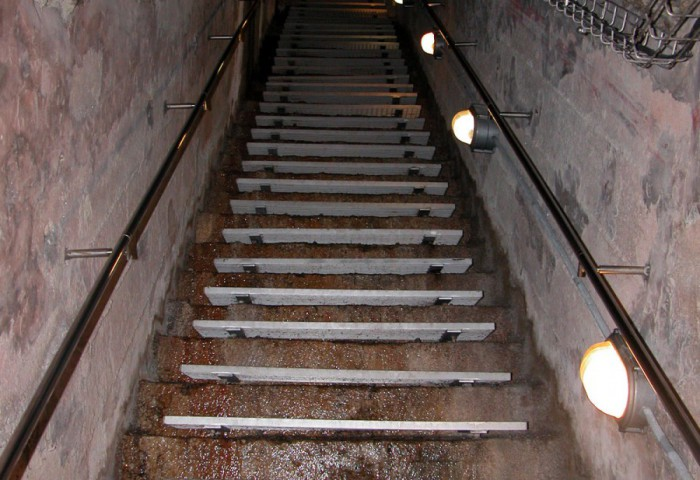 Tunnels' escape stairs