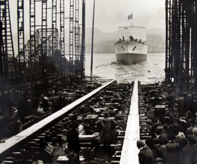Cableship 'Edward Wilshaw' launch