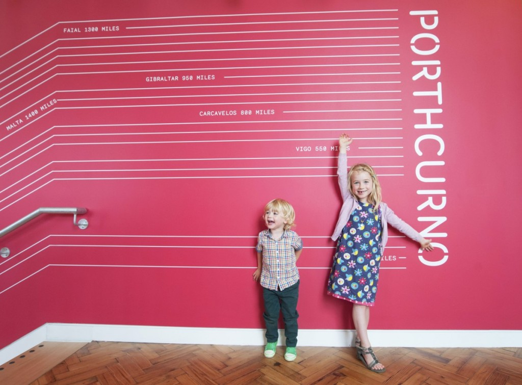 Young visitors enjoying the new museum galleries